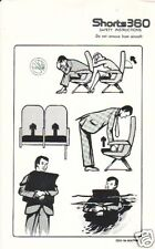 Safety Card - Generic - Shorts 360 - Blk Wh (S2147)