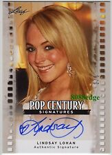 2011 LEAF POP CENTURY AUTO: LINDSAY LOHAN #2/5 AUTOGRAPH MEAN GIRLS/GLEE/PLAYBOY