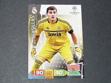 IKER CASILLAS REAL MADRID UEFA PANINI FOOTBALL CARD CHAMPIONS LEAGUE 2011 2012