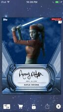 Topps Star Wars Digital Card Trader Navy Signature Aayla Secura Insert