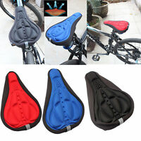 Soft Saddle Pad Cushion Cover Gel Silicone Seat for Mountain Bike Bicycle New US