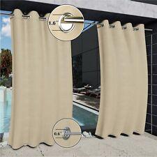 Outdoor Curtain Double Grommets (Top & Bottom) Windproof Light Blocking 1 Panel