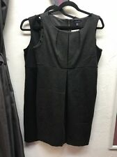 Lands' End Gray And Black Career Lot Of 2 Dresses Size 10