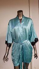 new fredericks of hollywood green satin robe.  retail  34.50