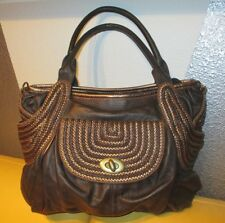 BEAUTIFUL DESIGNER IPA-NIMA LARGE CHOCOLATE BROWN LEATHER HANDBAG / PURSE