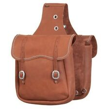 """Weaver Leather Chap Leather Saddle Bag With Spots Brown 11"""" x 12"""" x 4"""""""