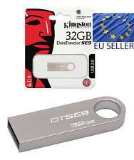 Kingston Digital DataTraveler SE9 32GB Genuine Flash USB 2.0 Drive Metal Pen Key