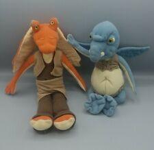 "Star Wars Episode 1 Jar Jar Binks 12"" Watto Plush Applause Set Anakins Master"