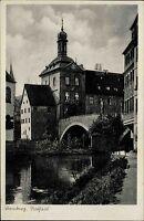 Lamberg Neukirchen beim Heiligen Blut Bayern Oberfalz AK ~1940 Rathaus Gebäude