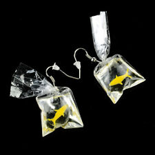 Lucky Earring Goldfish Water Bag Shape Dangle Hook Studs Charm Women Jewelry