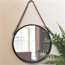 Black Porthole Round Mirror Wall Mounted Circular Bathroom Hallway Rope Hanging