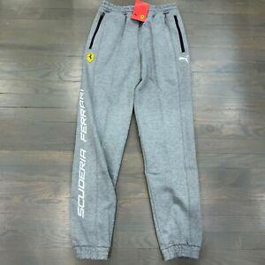 Puma SF Scuderia Ferrari Gray Sweat Pants Jogger Men's Size XL New 595431-03