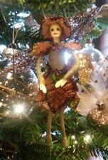 NEW Mini Green Brown Fairy Fabric Girl Doll 5'' Home Christmas Decoration