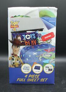 Toy Story 4 - 4 Piece Full Sheet Set Woody Buzz Lightyear (New)