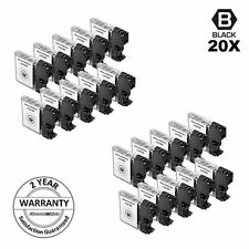 20pk LC61BK LC61 BLACK Ink  Cartridge for Brother mfc-295cn mfc-495cw 5490cn