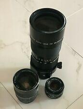 Three Lens Set Canon FD 85-300 + 50 + Tokina  28-85 + FD/MFT + Case, for BMPCC4K