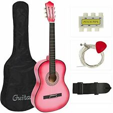 Beginners Acoustic Guitar w/ Case Strap Tuner Pick Musical Instruments Playing