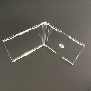 10 st. Maxi CD Leer Hüllen Hülle Slim Case - 7 mm klar -  mit Fach für Einleger