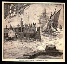 1881  --  ENTREE DU PORT DE CUXHAVEN A L EMBOUCHUREDE L ELBE  3N524