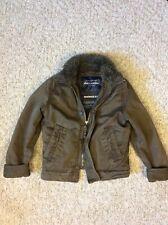 Abercrombie MacIntyre Bridge Fur Jacket Coat Brown A&F RARE -Size XS