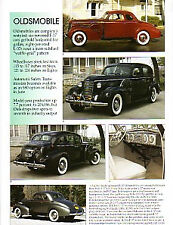 1937 Oldsmobile Article - Must See !!