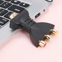 HDMI Male to 3 RCA Female Composite AV Audio Video Adapter Converter for TV DVD
