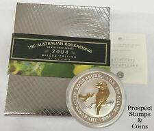 2004 Kookaburra 1oz Silver Gilded Coin and Pin