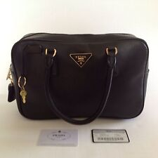 Prada Milano Italian Leather Semitracolla Vela Sport Nero Black Doctor Handbag