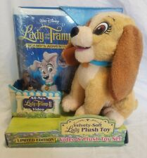 Walt Disney Limited Edition Lady and the Tramp 2 Video & Plush Toy Set VHS