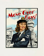 """Move over Boys - Navy"" 11x14 Open Edition Print by Hawaii artist Garry Palm"