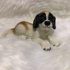 Goebel Figurine SAINT BERNARD PUPPY DOG LYING DOWN 30 112-0 TMK6 Excellent