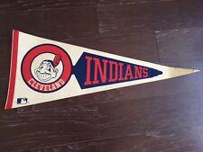 VINTAGE SPORTS MEMORABILIA PENNANT FLAG MLB BASEBALL CLEVELAND INDIANS JIM THOME