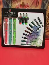 Sheaffer Calligraphy Maxi Kit, 3 Fountain Pens & Nibs Instruction Book 83404