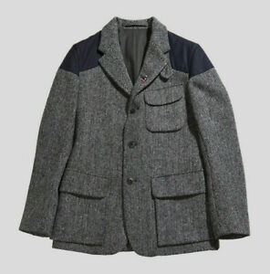 Nigel Cabourn Classic Mallory Harris Tweed Jacket Blazer in Grey Size 50