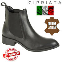 Cipriata Bianca Ladies Chelsea Boots Nappa Leather Twin Gusset Women Shoes Black