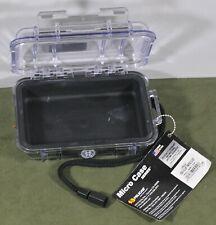 "Pelican# 1020A-00R-100 Watertight Black Micro Case, 5-1/4"" x 3-1/2"" x 1-5/8"""
