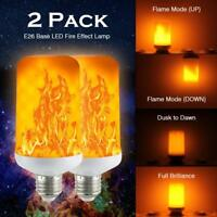 2 Pack LED Flame Effect Simulated Nature Fire Light Bulb E27 5W Decoration Lamp