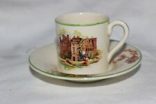 3 Woods Ivory Ware Country Fleurs Scene Expresso Tasse & Soucoupe