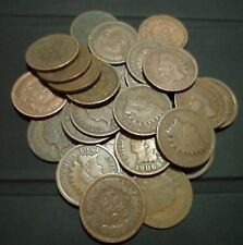 Group of five (5) Indian Head Cents - various dates - good & better! Free Ship!