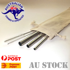 Stainless Steel Drinking Straw Variety Pack - 3 Food Safe Reusable Metal Straws