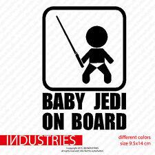 Baby Jedi on Board Aufkleber 9,5x14 Baby an Bord Nachwuchs im Auto Car Sticker