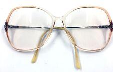 Vintage Portfolio Eyeglass Frames Peach Large Safilo Italy 135 mm