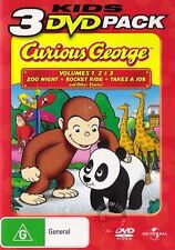 Curious George TV Series Volumes 1 2 3 : NEW DVD