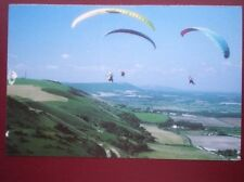 POSTCARD SUSSEX HANG GLIDING ON THE SUSSEX DOWNS