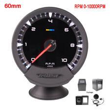 "2.5"" 60mm Universal Car Tacho Counter Gauge Tachometer 7 Colors LED 0-10000 RPM"