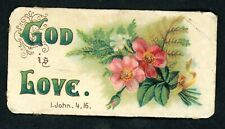 More details for  victorian greetings card religious scripture motto card