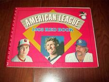 1983 American League Red Book ~ Media/Stats Guide