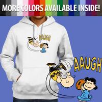 Pullover Sweatshirt Hoodie Sweater Classic Peanuts Charlie Brown Football Kick