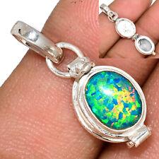 Poison - Fire Opal 925 Sterling Silver Pendant Jewelry AP168777