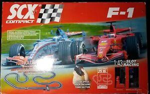 SCX Compact F-1 Slot Race Track Set 1:43 Scale Formula 1 Ferrari Hot Wheels